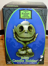 THE NIGHTMARE BEFORE CHRISTMAS JACK SKELLINGTON Jack in Hand Resin Candle Holder
