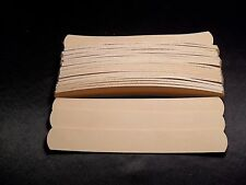 #BRNS NO SNAP LOT OF 100 ROUNDED LEATHER BRACELET NATURAL BLANKS  1""