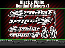 Renthal Sticker Decal pack Motorcycle Scooter car Modified  BLACK & WHITE
