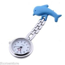 NURSES/STUDENT DOLPHIN FOB WATCH-NEW-LOVELY ITEM IDEAL GIFT