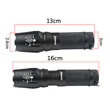 Tactical CREE T6 5000lm 5Modes LED Rechargeable 18650 Flashlight Torch Light