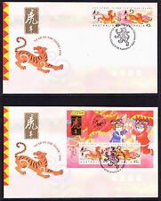 Christmas Island 1998 Year of the Yiger  (2) First Day Cover  APM30690