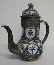 Islamic Pottery Teapot with unique metal adornment