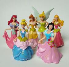 Princess Snow White Ariel Cinderella Aurora Cake Topper Figures Toy 6 pcs SET