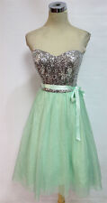 WINDSOR Mint Silver Party Prom Dance Dress 1 - $110 NWT