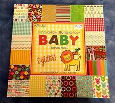 "BABY Scrapbook Paper BOY Girl THE PAPER STUDIO BABY NEWBORN 12""X12"" Paper NEW"