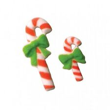 Sugar Decorations Cookie Cake Cupcake Winter Christmas CANDY CANE 12 ct.