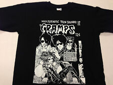 MENS THE CRAMPS T SHIRT 'WILD PSYCHOTIC TEEN SOUNDS' FREE UK POSTAGE