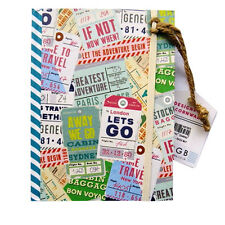 """A6+ Hardcover Notebook - """"Travel Adventures"""" Design – 160 Pages – Ruled"""