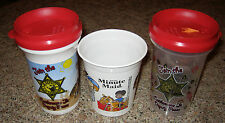 2 Plastic Cattlemans's cups and 1 Minute Maid character childrens cup
