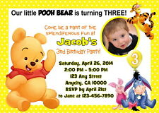 WINNIE THE POOH CUSTOM PRINTABLE BIRTHDAY PARTY INVITATION & FREE THANK U CARD