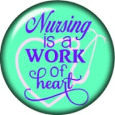 Snap button Nursing is a work of the heart 18mm Cabochon chunk charm