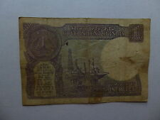 Old India Paper Money Currency - 1986 1 Rupee - Well Circulated