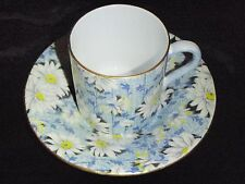 Shelley Blue Daisy with Gold Trim Demitasse Cup & Saucer #13451