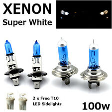 H1 H7 T10 100w SUPER WHITE XENON Upgrade Head light Bulbs Set Dip Main Beam II
