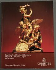 Christies French & Continental Furniture, Art, Clocks, Carpets 1986