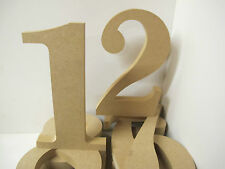 WOODEN  NUMBERS Large 200mm high 18mm thick Roman Font 1-9 Available