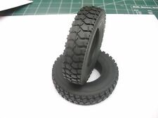 TRACTOR TRAILER TIRES 1/14 ROAD TRUCKER RC4WD VVV-S0062 TAMIYA AGRESSIVE TREAD