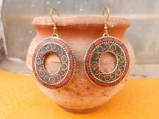Traditional Bollywood Silver Oxidized Multi Color Meena Jhumki Jhumka SER60