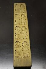 Antique Wooden Cookie Mold Gingerbread Speculaas Puppet Backing Hand Carved