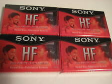 Lot of 4 Factory Wrapped SONY HF 90 minute Cassettes NEW