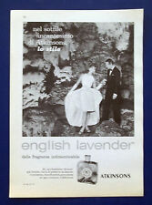 A572-Advertising Pubblicità-1960-ENGLISH LAVANDER ATKINSONS - PROFUMI