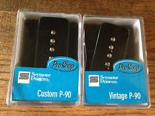Seymour Duncan Custom P-90 Bridge and Vintage P90 Neck Soapbar Pickup Set New