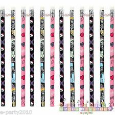 MONSTER HIGH PENCILS (12) ~ Birthday PARTY Supplies Favors Prizes