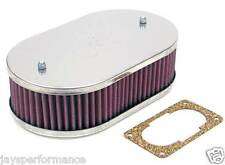 56-9006 K&N CUSTOM AIR FILTER KIT FOR SINGLE & TWIN BARREL WEBER CARBS