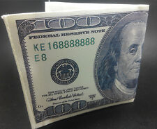 50pcs Imitation Old $100 Dollar Bill Money Pattern/Print Canvas bi-fold Wallet