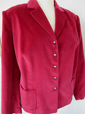 TALBOTS WOMAN Red Wine Velvet Blazer Suit Jacket Plus 20W NWOT