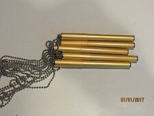 "LOT OF 5 NURSE PEN CHAIN BALLPOINT MINI PEN-GOLD-4""- GREAT DEAL"