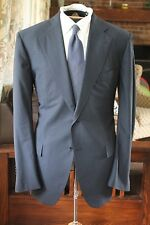 BIG BLUE Cesare Attolini Napoli Micro Houndstooth Worsted Hand Stitch Dual Vt FF