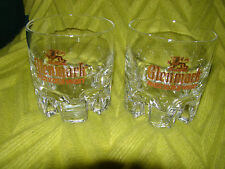 SET OF 2 GLENMARK SCOTCH WHISKEY HEAVY BARWARE LO BALL GLASSES