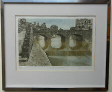 VALERIE THORNTON RE 1931-1991 SIGNED LTD ED AQUATINT 'THE LOIRE AT VENDOME' 1986