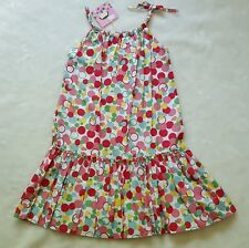 NWT LOLA ET MOI Pink Red White Polka Dot Bubbles Sun Dress 8 7 Beach Boutique