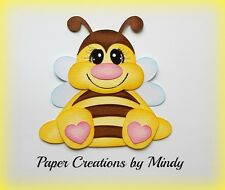 Craftecafe Mindy Spring Summer Bee premade paper piecing for scrapbook