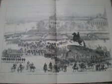 Russia Bicentennary Festival St Petersburg 1872 old print my ref S