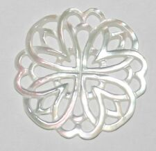 AAA TOP FINE  MOP Carved Pendant 30MM Mother Of Pearl