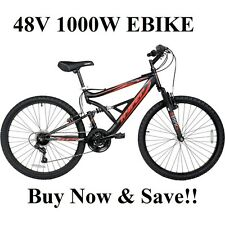 DIY Super Fast Off Road 48V 1000W Electric Mountain Bike Ebike