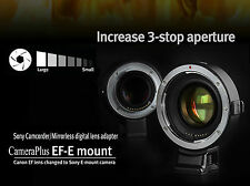 UK Store! CameraPlus® Autofocus adapter - Canon EOS EF on Sony E-mount (AT-EF-E)