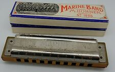 Hohner Marine Band Harmonica No 1896 Key C Made in Germany