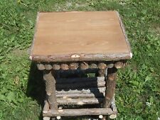 Log Furniture Rustic Cedar Twig End Table Handcrafted Handmade Night Stand