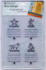 Scrapbook AUTUMN LEAVES Clear Stamps Friends and Family Dog - 4 Journing Block