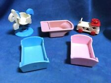 SYLVANIAN FAMILIES NURSERY ACCESSORIES AND SIT ON TOYS BABY CRADLE BATH HORSE