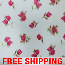 "Fleece Fabric Rose Floral Style 125 60"" Wide Free Shipping"