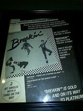 Breakin' Original Motion Picture Soundtrack Promo Poster Ad Framed!