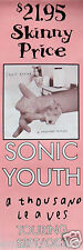 "SONIC YOUTH ""A THOUSAND LEAVES"" AUSTRALIAN POSTER /BANNER-Alternative Rock Music"