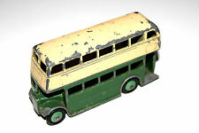 Dinky Toys Post War 2 Tone Type 3 Grill Double Decker Bus 290 With Green Hubs