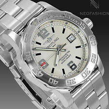BREITLING COLT QUARTZ SS 44MM NEW MODEL BEAUTIFUL WHITE DIAL MENS WATCH A74387